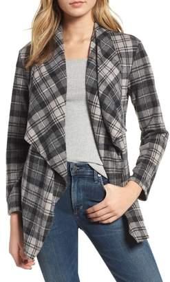 BB Dakota Brave Heart Plaid Knit Jacket