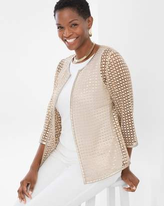 Travelers Collection Gold Square Lace Jacket