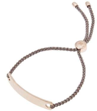Monica Vinader Rose Gold-Plated Mink Cord Havana Friendship Bracelet