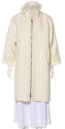 Andrew Gn Fur-Trimmed Knee-Length Coat