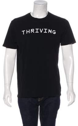 Baja East Thriving Distressed T-Shirt