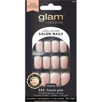Manicare Glam By Glam Nails 223 French Pink Medium Square 1 Kit