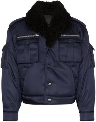 Prada military bomber jacket