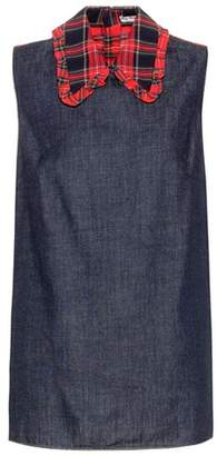 Miu Miu Denim sleeveless top