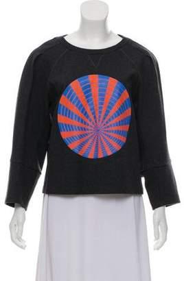 Dries Van Noten Wool Graphic Print Sweatshirt