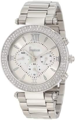 Freelook Women's HA1539-4 Mother-Of-Pearl Chronograph Dial Swarovski Bezel Watch