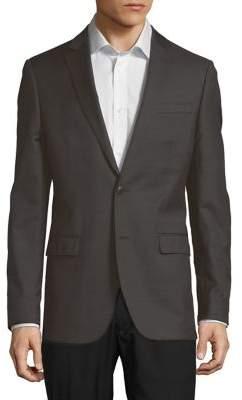 Black & Brown Black Brown Traveler Wool Suit Jacket