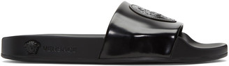 Versace Black Medusa Pool Slide Sandals $525 thestylecure.com