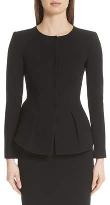 Emporio Armani Wool Peplum Jacket