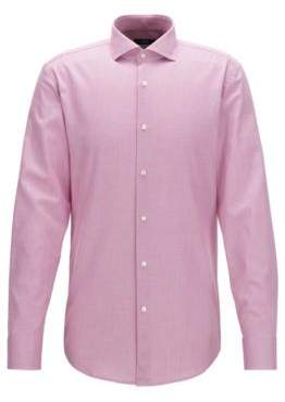 BOSS Hugo Cotton Dress Shirt, Slim Fit Jason 18 Dark pink