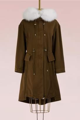 Alexander McQueen Cotton and Fur Parka