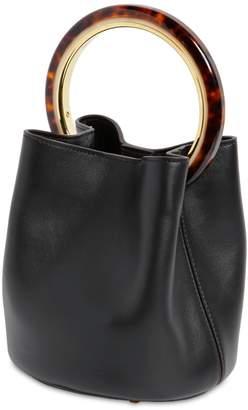 Marni Small Pannier Leather Bucket Bag