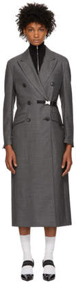 Prada Grey Buckle Coat