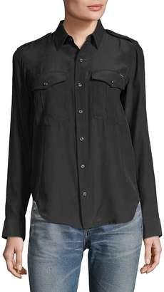 Mother Women's Casual Silk Button-Down shirt
