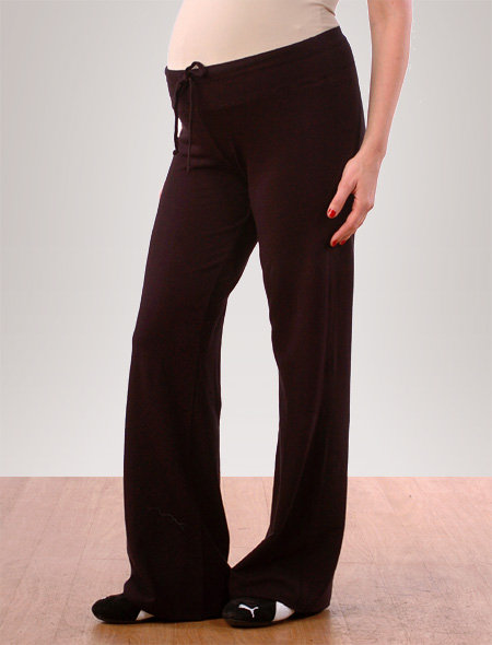 Splendid Pull On Style Jersey Knit Fit And Flare Maternity Active Pant