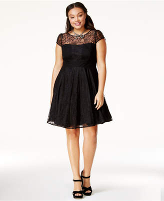 City Chic Trendy Plus Size Lace A-Line Dress