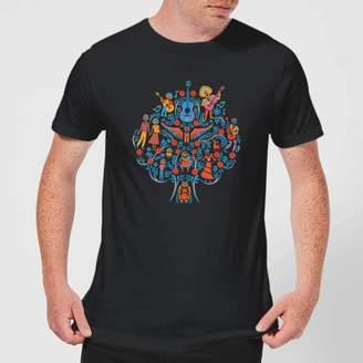 Disney Coco Tree Pattern Men's T-Shirt