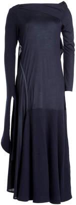 Victoria Beckham Asymmetric Virgin Wool Dress with Cashmere
