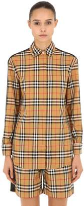 Burberry Saoirse Check Shirt W/ Side Bands