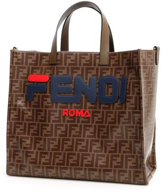 3c7b4732de at Italist · Fendi Mania Glazed Fabric Shopper
