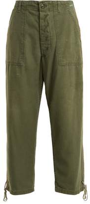Myar - Usp70 American Cotton Cropped Trousers - Womens - Green