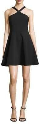 LIKELY Ashland Fit-&-Flare Halter Dress