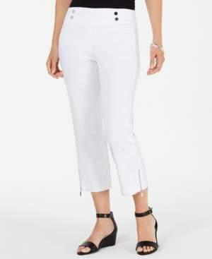 JM Collection Zip-Hem Capri Pants, Created for Macy's
