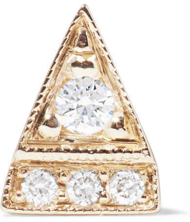 Jennie Kwon Designs - Deco Point 14-karat Gold Diamond Earring
