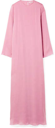 The Row Antoi Washed Silk-charmeuse Gown - Pink