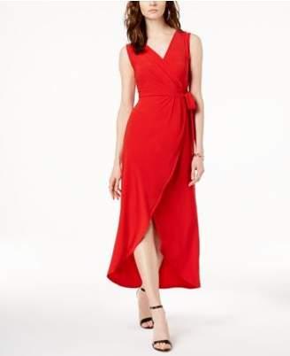 INC International Concepts I.N.C. Faux-Wrap Tulip-Hem Dress, Created for Macy's