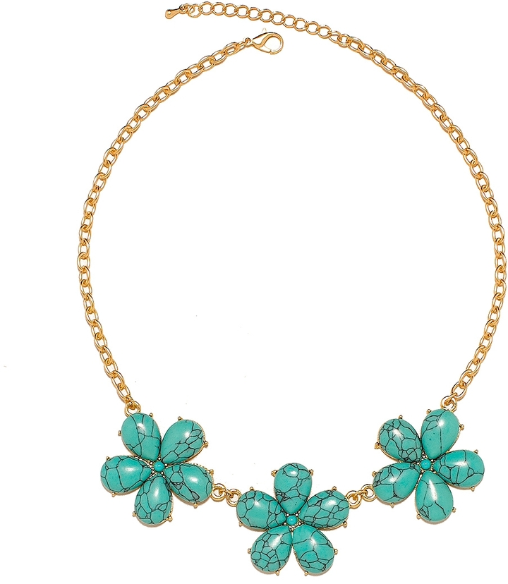 The Limited Stone Flower Necklace