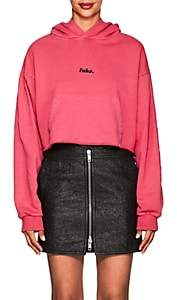 "Ksubi WOMEN'S KANDY ""FAKE"" COTTON CROP HOODIE"