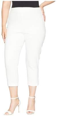 Unique Vintage Plus Size High-Waist Savoy Capris Women's Casual Pants
