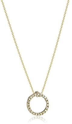 "Roberto Coin Tiny Treasures"" Sm Pave Diamond Open Circle Pendant Necklace"