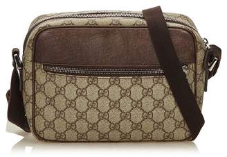 Gucci Vintage Guccissima Canvas Crossbody Bag