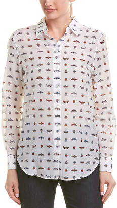 Equipment Insect Silk-Blend Buttondown Shirt
