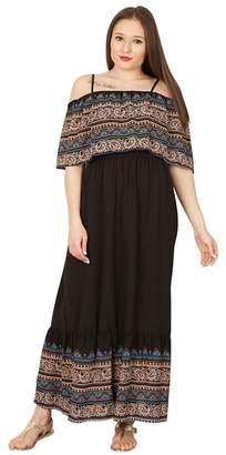 Izabel London Black Overlayed Top Maxi Dress