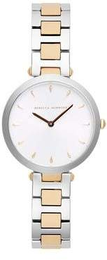 Rebecca Minkoff Nina TT Silver/ Rose Gold Bracelet Watch, 33mm