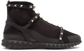 Valentino Body Tech Rockstud Trainers - Womens - Black