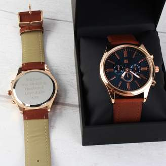 Sassy Bloom As seen on TV Personalised Mens Rose Gold Watch