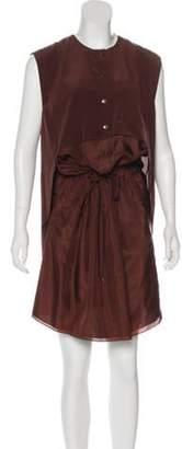 Alexander Wang Silk Shirt Dress Brown Silk Shirt Dress