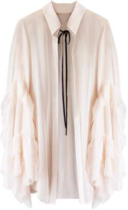 Florence Bridge - Caia Ruffle Shirt Peach