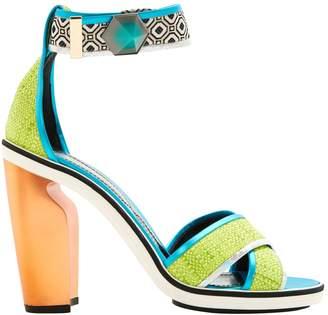 Nicholas Kirkwood Green Cloth Sandals