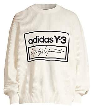 Y-3 Men's Logo Tech Knit Crew Sweater