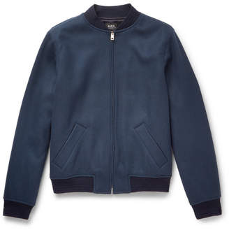 A.P.C. Gaston Wool-Blend Bomber Jacket