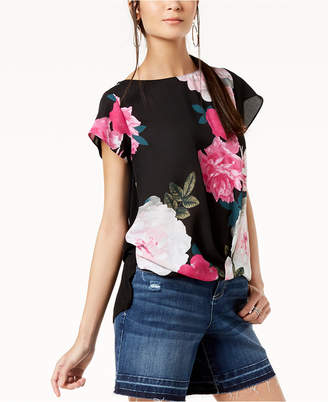 INC International Concepts I.n.c. Petite Printed-Front Top, Created for Macy's