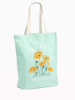 Old Navy Logo-Graphic Canvas Tote for Women