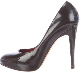 Brian Atwood Patent Leather Round-Toe Pumps $110 thestylecure.com
