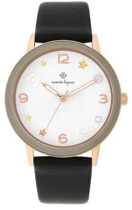 Nanette Lepore NANETTE Women's Quartz Faux Leather Strap Watch, 38mm