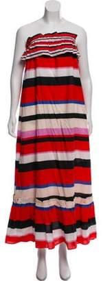 Nicholas Strapless Maxi Dress w/ Tags Red Strapless Maxi Dress w/ Tags